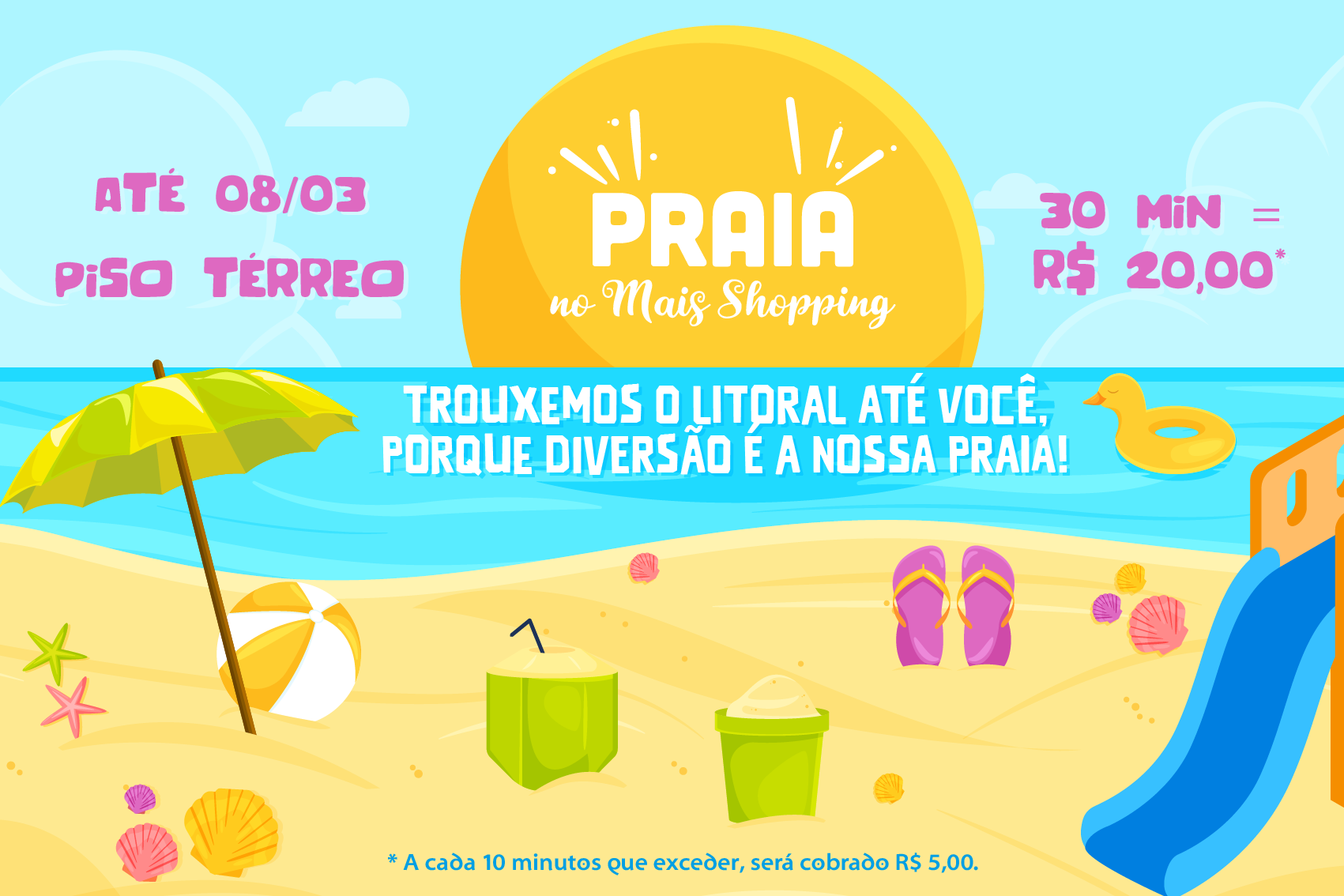 Praia no Mais Shopping