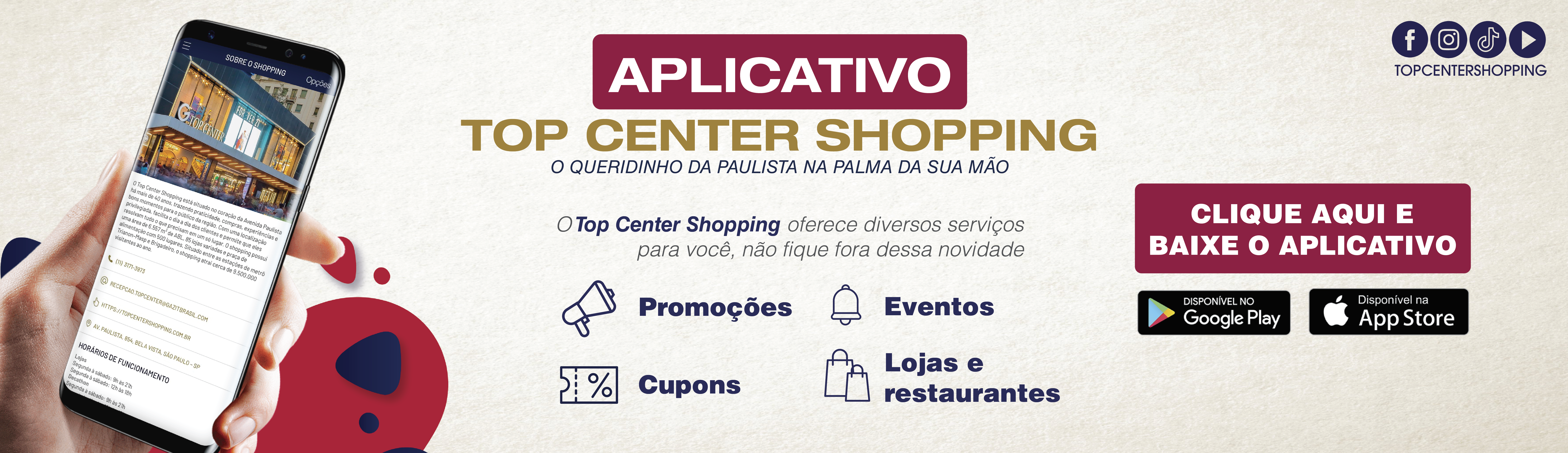 Aplicativo Top Center Shopping