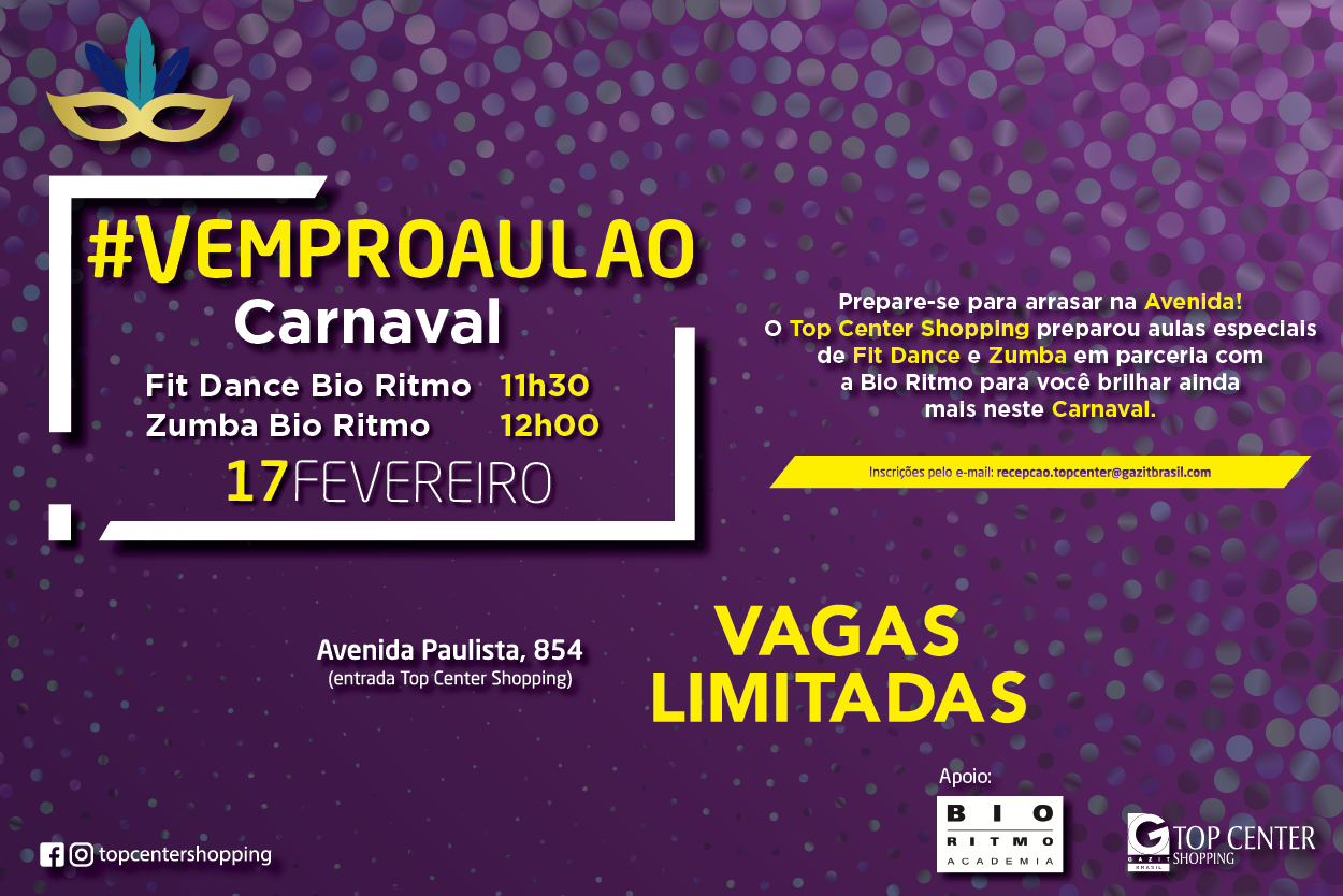 Vem pro Aulão Carnaval