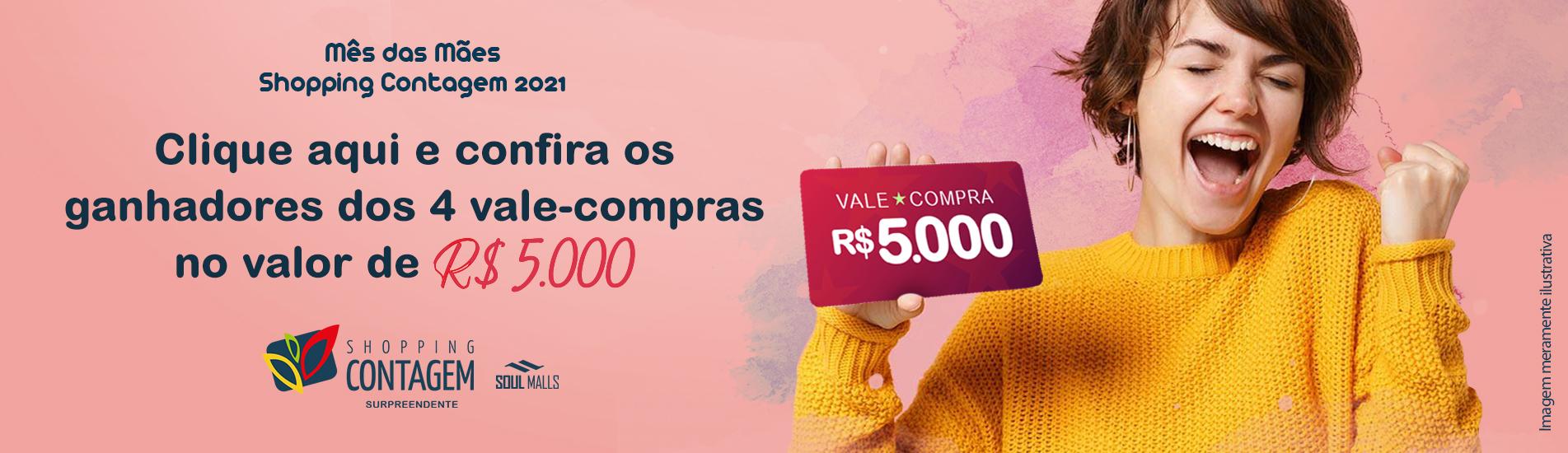 Banner Ganhadores Promoção Mês das Mães