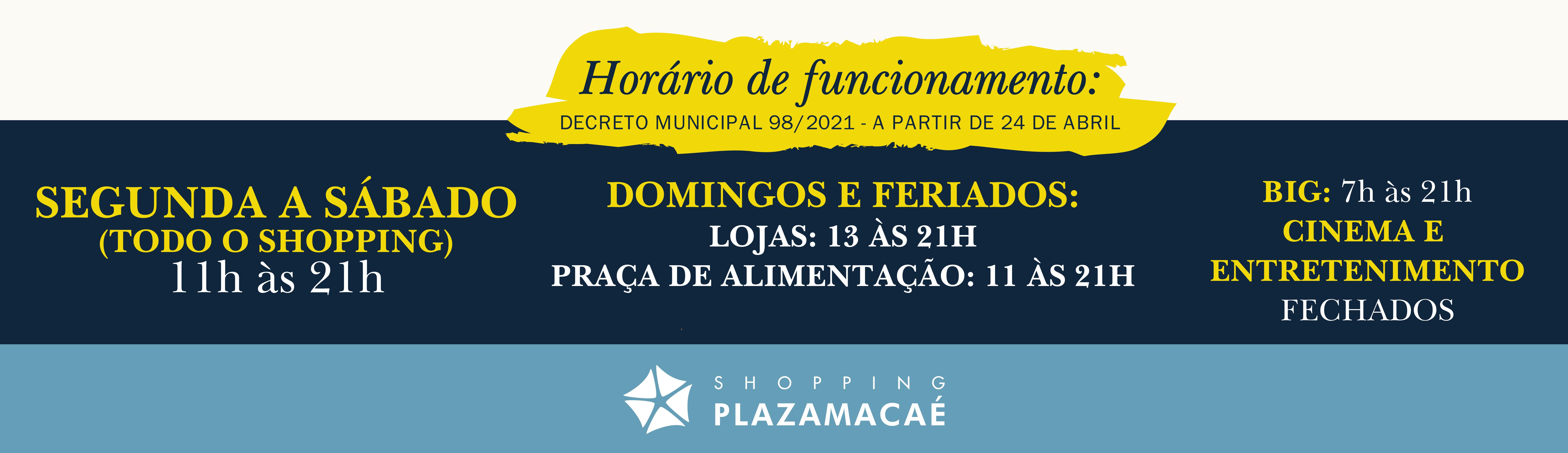 Banner Horário