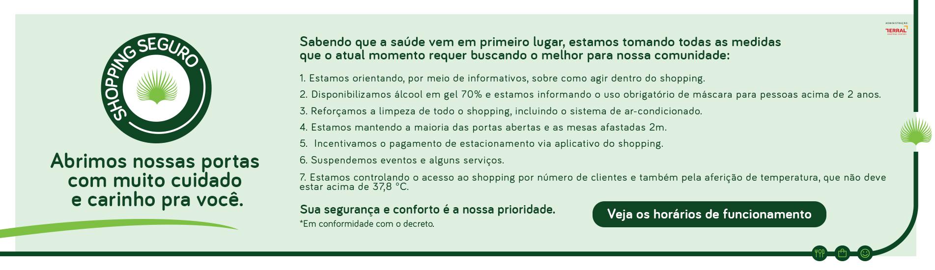 REABERTURA DO SHOPPING - INFORMAÇOES E ORIENTAÇÕES
