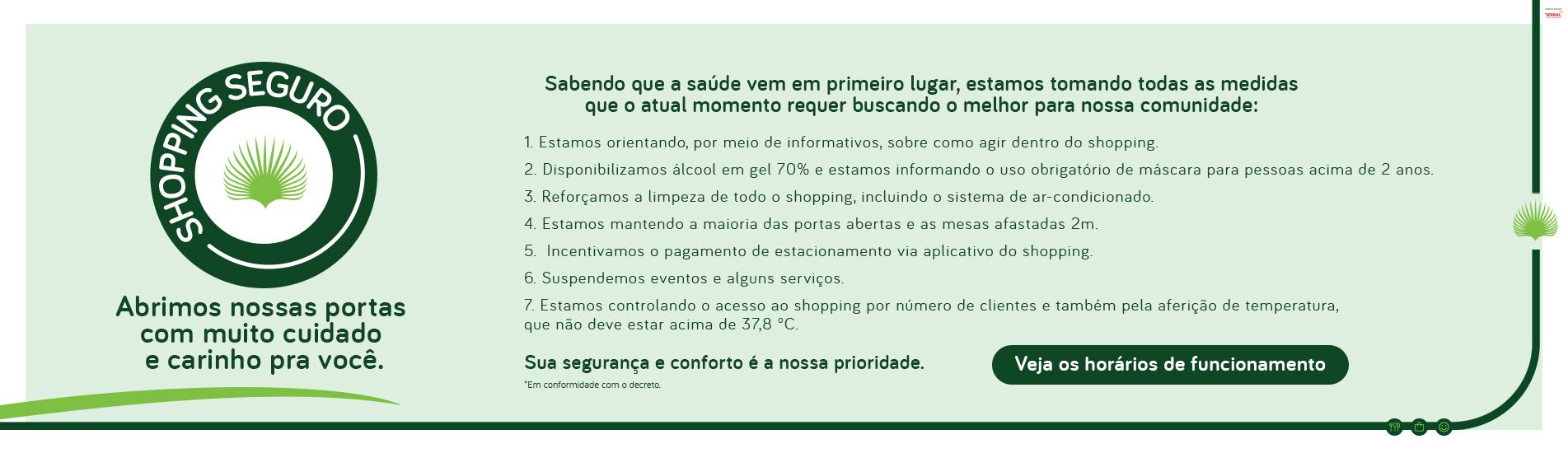 REABERTURA DO SHOPPING - INFORMAÇÕES E ORIENTAÇÕES