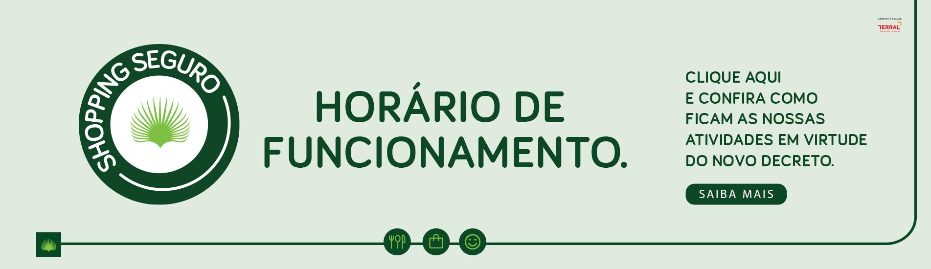HORÁRIO DE FUNCIONAMENTO - NOVO DECRETO