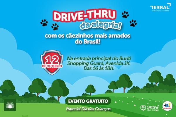 Drive-Thru da alegria em comemoração ao Dia das Crianças
