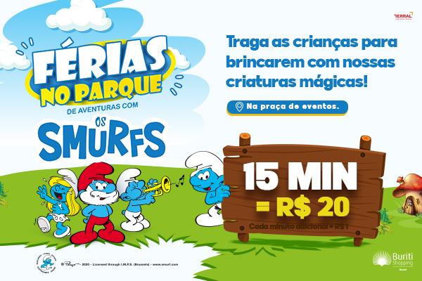Férias no Parque de Aventuras com os Smurfs