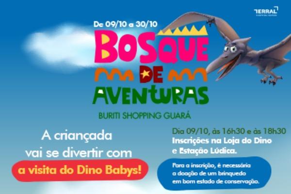 Dino Babys no Buriti Shopping Guará, o berçário jurássico